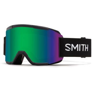 Smith Squad inkl. Wechselscheibe, black/Lens: green sol-x mirror - Skibrille