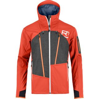 Ortovox Merino Naturtec Plus Pordoi Jacket M, crazy orange - Softshelljacke