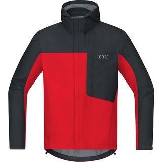 Gore Wear C3 Gore-Tex Paclite Kapuzenjacke, red/black - Radjacke