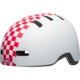Bell Lil Ripper, white/pink checkers - Fahrradhelm