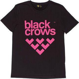 Black Crows Full Logo Tee, black/pink - T-Shirt