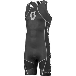 Scott Plasma w/pad Fastsuit, black/white - Triathlon Einteiler