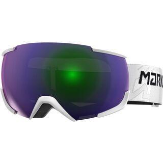 Marker 16:10+ MAP inkl. Wechselscheibe, weiß/Lens: green plasma mirror - Skibrille