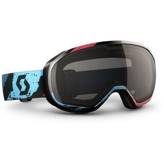 Scott Fix, brushed blue/red black chrome - Skibrille