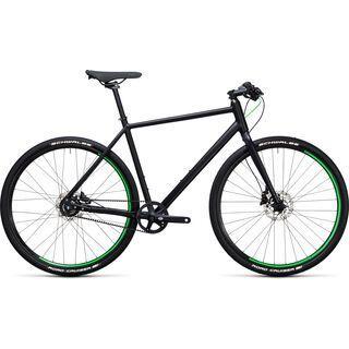 *** 2. Wahl *** Cube Hyde Race 2017, black´n´flashgreen - Urbanbike | Größe 58 cm