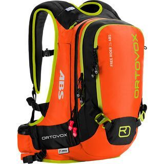 Ortovox Free Rider 26 ABS inkl. M.A.S.S. Unit, crazy orange - Lawinenrucksack