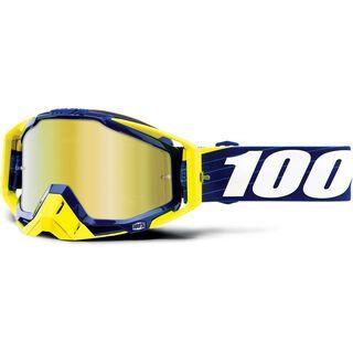 100% Racecraft inkl. WS, bilal/navy/Lens: mirror gold - MX Brille