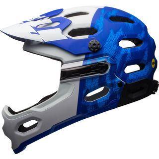 Bell Super 3R MIPS, blue/white - Fahrradhelm