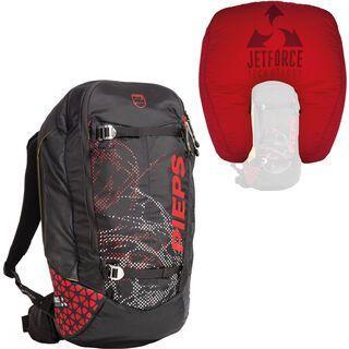 Pieps Jetforce Tour Rider 24, black/red - Lawinenrucksack