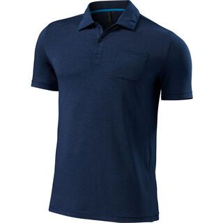 Specialized Utility Merino Polo SS, navy heather - Funktionsshirt