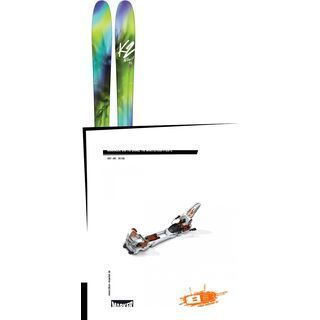 Set: K2 SKI Fulluvit 95 2017 + Marker Duke 16 09/10, White/Copper - Skiset
