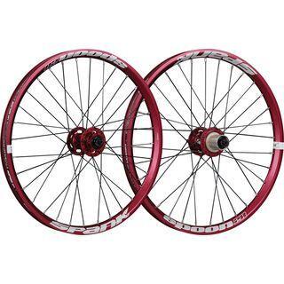 Spank Spoon 28-20 Wheelset, red - Laufradsatz