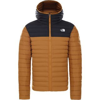 The North Face Men's Stretch Down Hoodie timber tan/tnf black