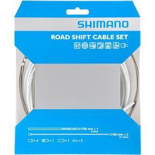 Shimano Road Sil-Tec beschichtet, weiß - Schaltzugset