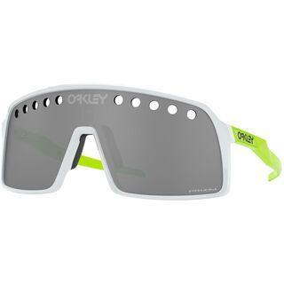 Oakley Sutro Prizm, polished white/Lens: prizm black vented - Sportbrille