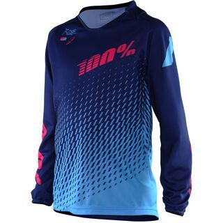 100% R-Core Supra DH Youth Jersey, blue - Radtrikot