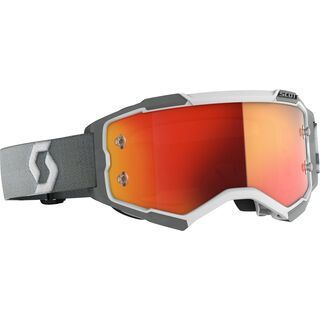 Scott Fury Goggle, white/grey/Lens: orange chrome wks - MX Brille
