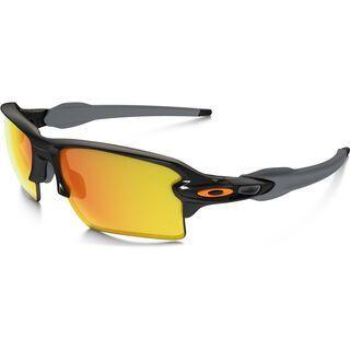 Oakley Flak 2.0 XL Team Colors, polished black/Lens: fire iridium - Sportbrille