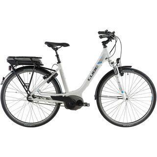 Cube Travel Hybrid RT Easy Entry 2014, white/anthrazit/blue - E-Bike