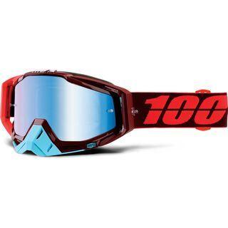100% Racecraft inkl. Wechselscheibe, kikass/Lens: mirror blue - MX Brille