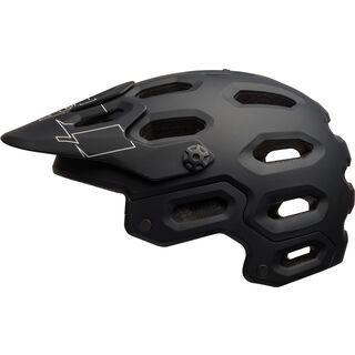 *** 2. Wahl *** Bell Super 3, black/white - Fahrradhelm   Größe L // 58-62 cm