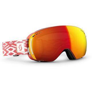 Scott LCG Compact + Spare Lens, coral pink/red chrome - Skibrille
