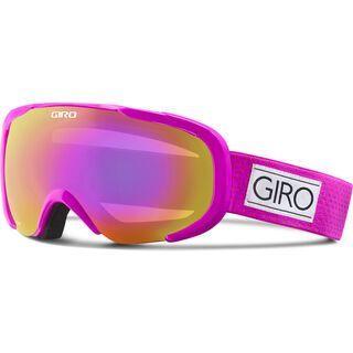Giro Field, magenta mini dots/amber pink - Skibrille