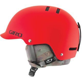 Giro Vault, matte glowing red camo - Snowboardhelm