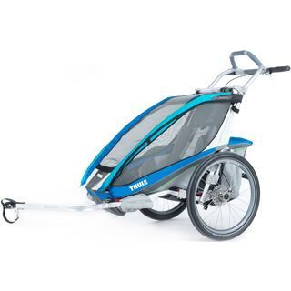 Thule Chariot CX 1 inkl. Fahrrad-Set, blau - Fahrradanhänger