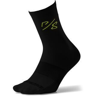 Specialized Soft Air Road Tall Sock Sagan Collection - Deconstructivism, green/black - Radsocken