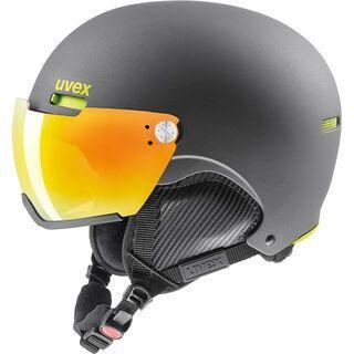 uvex hlmt 500 visor, gun-lime mat - Skihelm