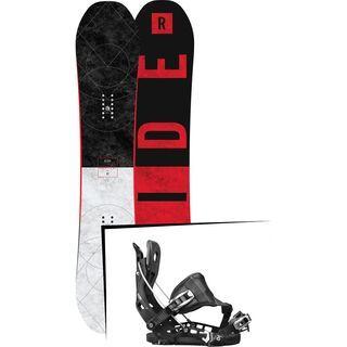 Set: Ride Machete GT 2017 + Flow NX2 Hybrid 2017, black - Snowboardset