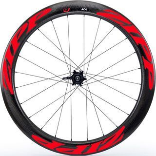 Zipp 404 Firecrest Tubular Disc-brake, schwarz/rot - Hinterrad