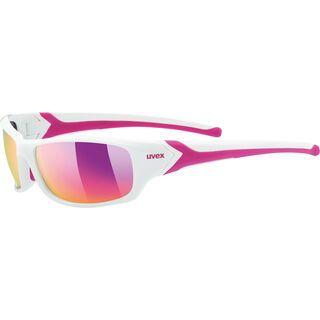 uvex sportstyle 211, white pink/Lens: mirror purple - Sportbrille