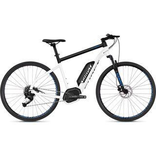Ghost Hybride Square Cross B2.9 AL 2018, white/black/blue - E-Bike