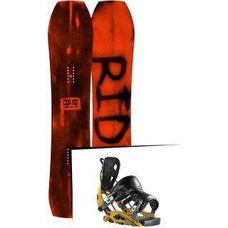 Set: Ride Warpig Large 2017 + Flow Fuse 2017, mustard - Snowboardset