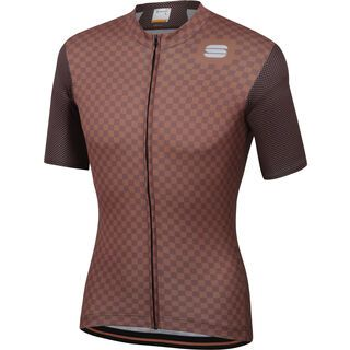Sportful Checkmate Jersey, chocolate/coconut - Radtrikot