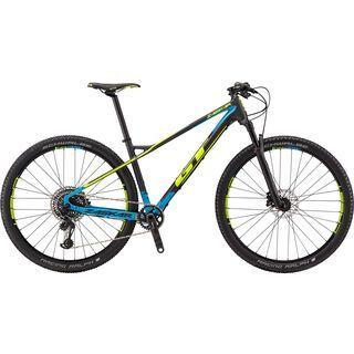 GT Zaskar Carbon Pro 2018, raw/cyan/yellow - Mountainbike