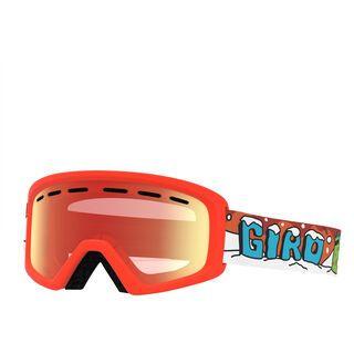 Giro Rev, dinosnow/Lens: amber scarlet - Skibrille