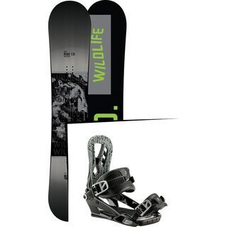 Set: Ride Wild Life 2017 + Nitro Pusher 2017, black - Snowboardset