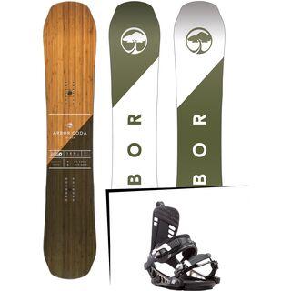 Set: Arbor Coda Rocker 2017 + K2 Cinch CTX 2017, black - Snowboardset