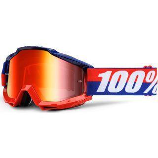 100% Accuri inkl. Wechselscheibe, federal/Lens: mirror red - MX Brille