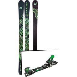Set: Armada Edollo 2019 + Tyrolia Adrenalin 16 solid black flash green
