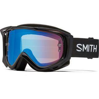 Smith Fuel V.2 inkl. Wechselscheibe, black/Lens: contrast rose flash - MX Brille