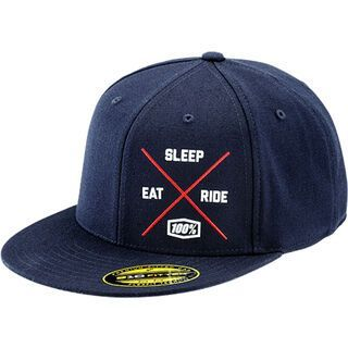 100% Eat Sleep Ride, navy - Cap