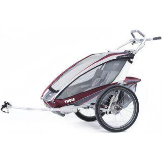 *** 2. Wahl *** Thule Chariot CX2 + Fahrradset, burgundy - Fahrradanhänger  