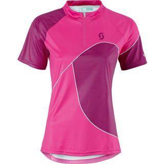 Scott Womens Trail 50 s/sl Shirt, bright pink/berry purple - Radtrikot