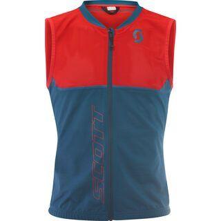 Scott Actifit Plus Light Vest Men, lunar blue/radiant red - Protektorenweste