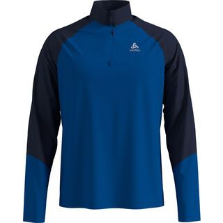 Odlo Midlayer 1/2 Zip Planches energy blue/diving navy