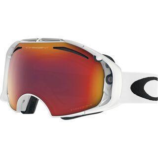 Oakley Airbrake Prizm inkl. Wechselscheibe, white/Lens: prizm torch iridium - Skibrille